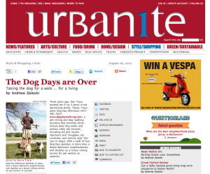 Dog Day Afternoon in Urbanite Magazine